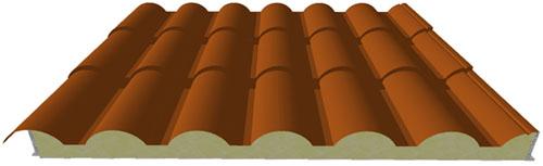 Pannelli coibentati Coppo a forma di tegola