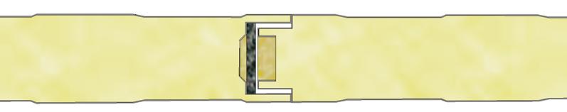 Incastro del pannello coibentato per parete
