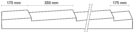 Pannelli coibentati coppo - vista laterale