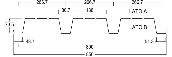 lamiera grecata retta LG75