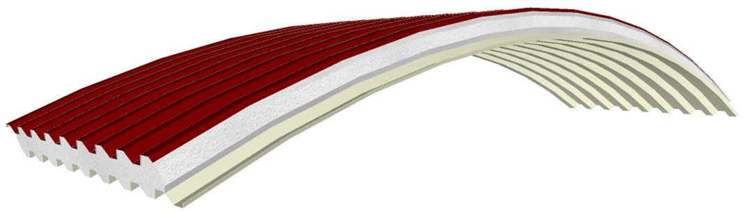 Pannello curvo coibentato Panel C-GG